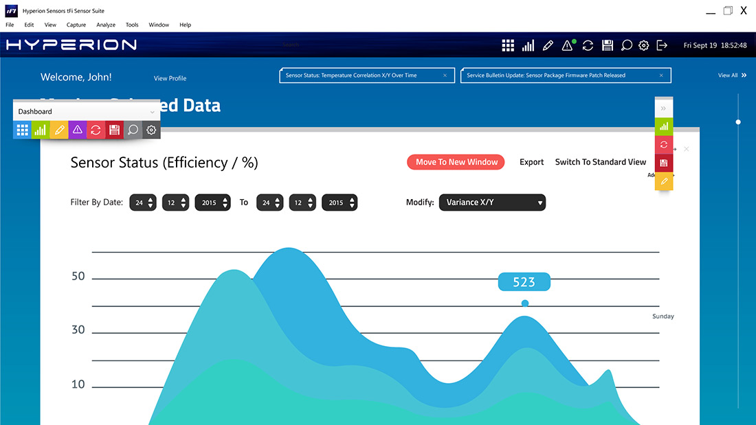 Hyperion tFit Sensor Suite - Full Screen View