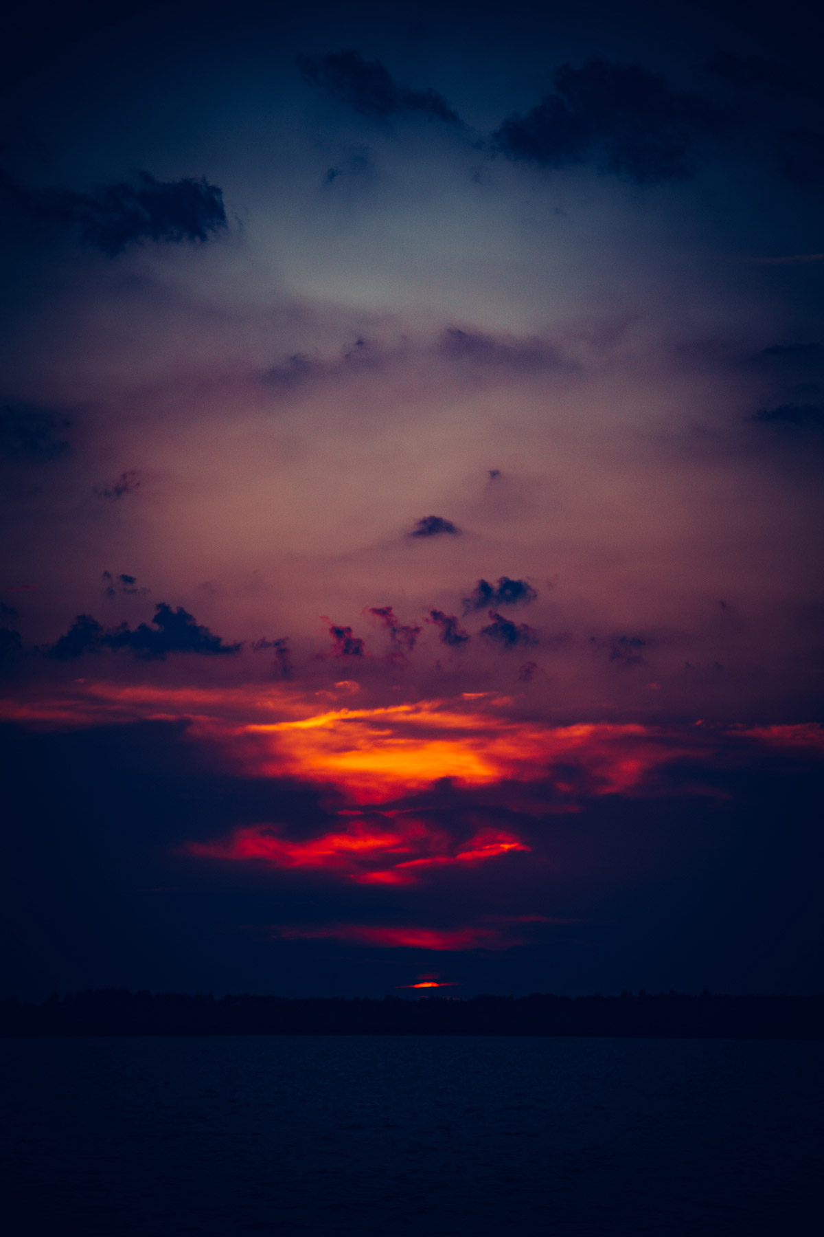 Tungsten Sunset On Pigeon Lake