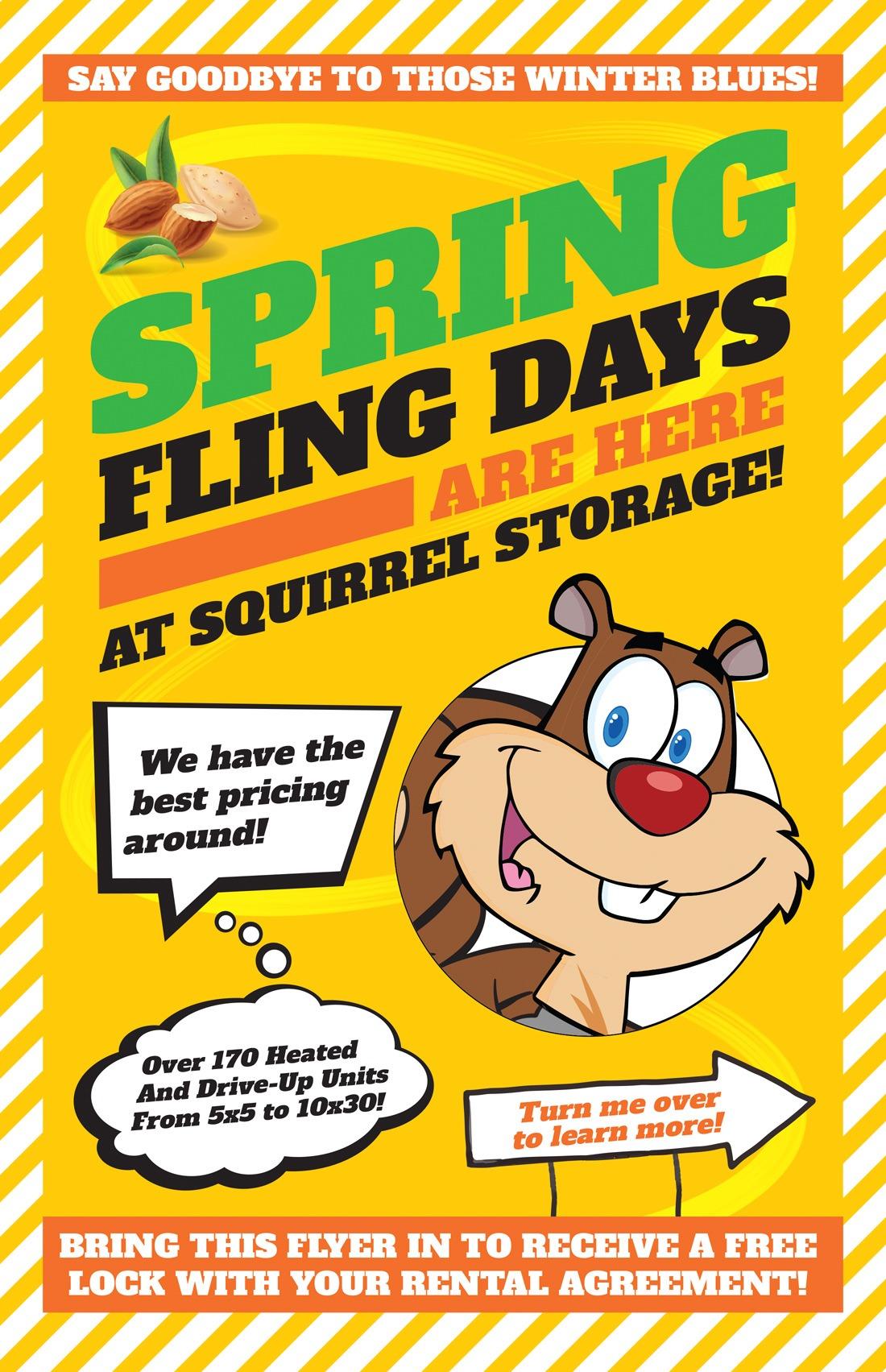 Squirrel Storage | Spring Flyer